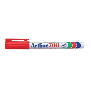 Permanent märkpenna Artline 700, 0,7 mm, röd