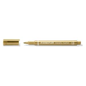 Metallic-penna Staedtler, 1-2mm, guld
