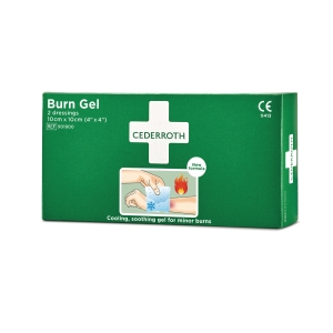 Brännskadegel Cederroth burn gel kompresser 10x10cm