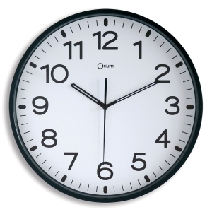 SILENT CLOCK 11679 DIAMETER 30CM BLACK