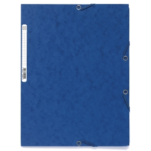 Gummibandsmapp Exacompta, A4, blå