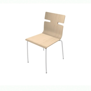WHISPER CANTEEN CHAIR BEECH VENEER