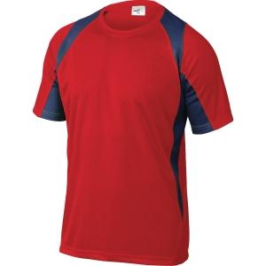 T-shirt Deltaplus Bali röd/grå stl. l