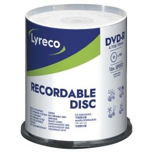 DVD-R Lyreco 4.7gb 1-16x spindel 100 st/fp