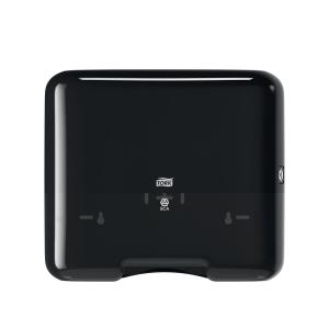 Dispenser Tork Mini H3, för pappershanddukar, Zig-Zag och Centerfold, svart