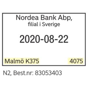 /NORDEA KASSASTÄMPEL - N2