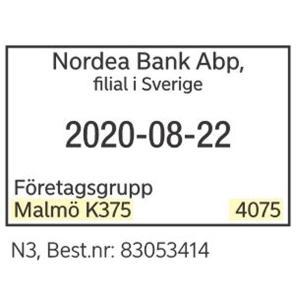 /NORDEA KASSASTÄMPEL - N3