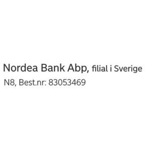 /NORDEA BANKSTÄMPEL - N8