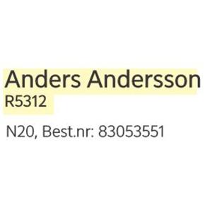 /NORDEA NAMNSTÄMPEL - N20