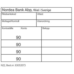 /NORDEA KONTERINGSSTÄMPEL - N22
