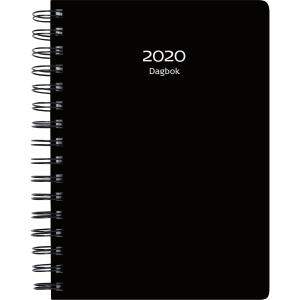 /BURDE DAGBOK 2020 PP-PLAST SVART