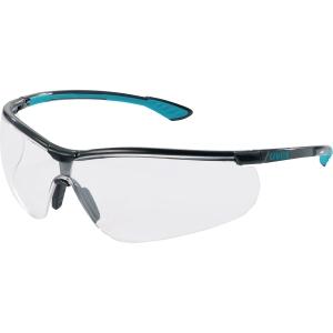 Skyddsglasöga Uvex Sportstyle 9193 klara linser blå/svart