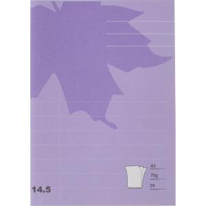 Skolhäfte Actual, A5, linjerat 14,5 mm, lila, förp. med 25 st.