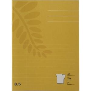 Skolhäfte Actual, A5, linjerat 8,5 mm, gult, förp. med 25 st.