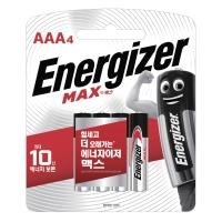 ENERGIZER 에너자이저 MAX AAA 건전지 1.5V 4입