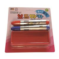 화이트보드마카(4자루-검정2,파랑,빨강)+지우개