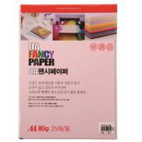 두성색지 P5 A4 80g 분홍색 25매/팩