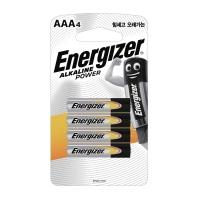 ENERGIZER 에너자이져 알카라인 건전지 AAA 4개입