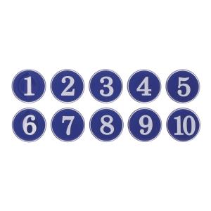 아트사인 1110 에폭시번호스티커 1-10 청색