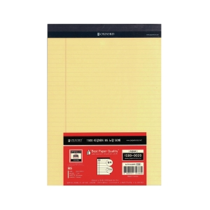 OXFORD ALP31402 LEGAL PAD LINED B5 YLLW