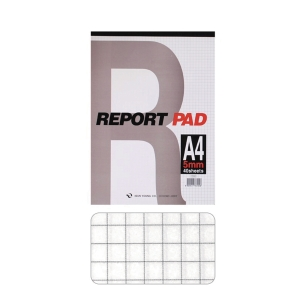 GEUNYOUNG REPORT PAD A4 SQR 5MM 40SHT