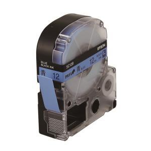 엡손 라벨테이프 SC12B PX 파랑/검정 12mm