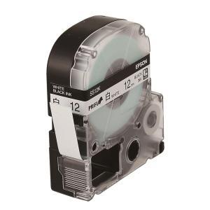 엡손 라벨테이프 SS12K PX 하양/검정 12mm