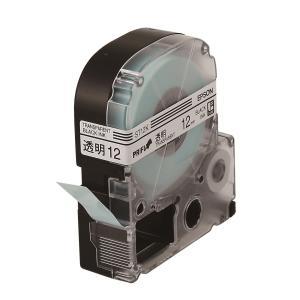 엡손 라벨테이프 ST12K PX 투명/검정 12mm