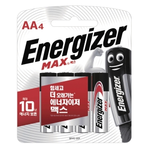 ENERGIZER MAX AA 건전지 1.5V 4개입