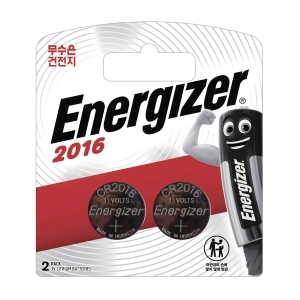 ENERGIZER CR2016 코인 건전지 2개입