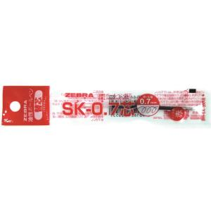 ZEBRA 클립온 다색리필 SK-0.7 빨강 10입