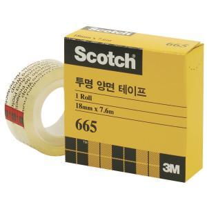 3M 스카치 양면테이프 리필 665 18mm×7.6m