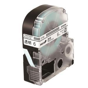 엡손 라벨테이프 ST6K PX 투명/검정 6mm