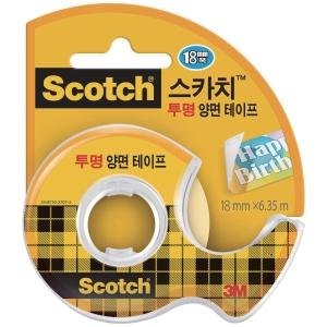 3M 스카치 양면테이프 19mmx7.6m 디스펜서
