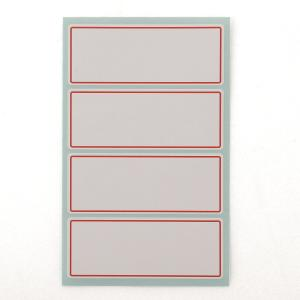 PK10 GOODLABEL 2001 LABELS 33X87MM RED