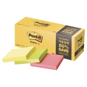 PK20 3M 654-20 POST-IT 76X76 PASTEL ASS