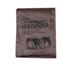 배접 쓰레기봉투 특110L(90x110) 검정 20장