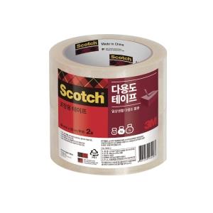 PK2 SCOTCH 3615-2 PACK TAPE 48MMX50M CLEAR