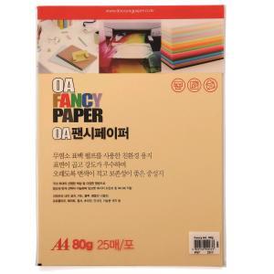 두성색지 P7 A4 80g 연주황색 25매/팩
