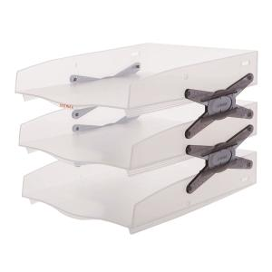 SYSMAX 22137 NEO TRAY 3 SHELVES SMOKED