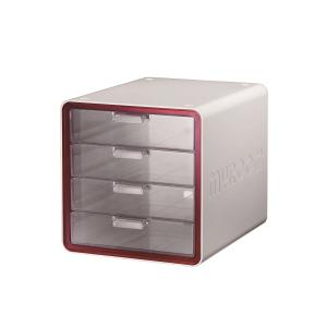 MYROOM 10010 4-DRAWER FILING MODULE RED