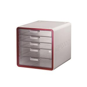 MYROOM 10011 5-DRAWER FILING MODULE RED