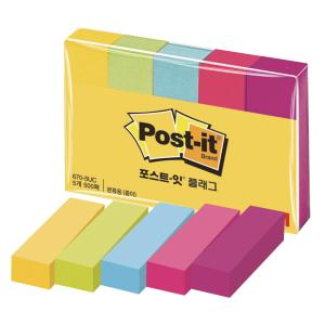 PKG5 3M POST-IT PG MARKERS .5X2   ASSTD