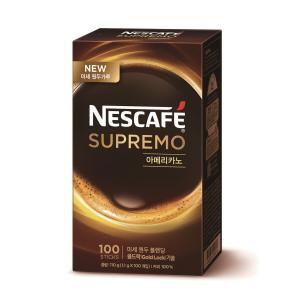 네스카페 수프리모 무설탕 아메리카노 (1.1g x 100스틱)