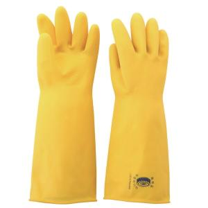 INDUSTRIAL RUBBER GLOVE YELLOW