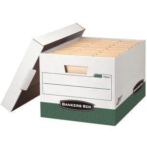 뱅커스박스 Presto 파일 박스 녹색 2개입