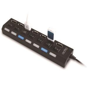 엑토 HUB-19 하이브 7포트 USB 허브 블랙