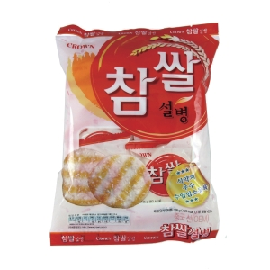 CROWN RICE ROUND CRACKER 128G