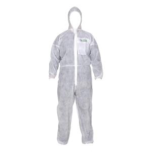 가드맨 방진보호복 PP 원피스 XL 흰색