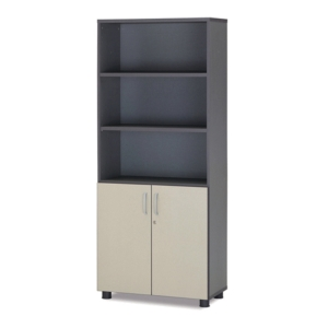 QUINTUPLE HALF OPEN BOOKSHLF 800MM BEIGE